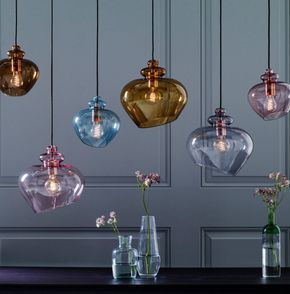 Top 10: coloured glass pendant lights for contemporary spaces