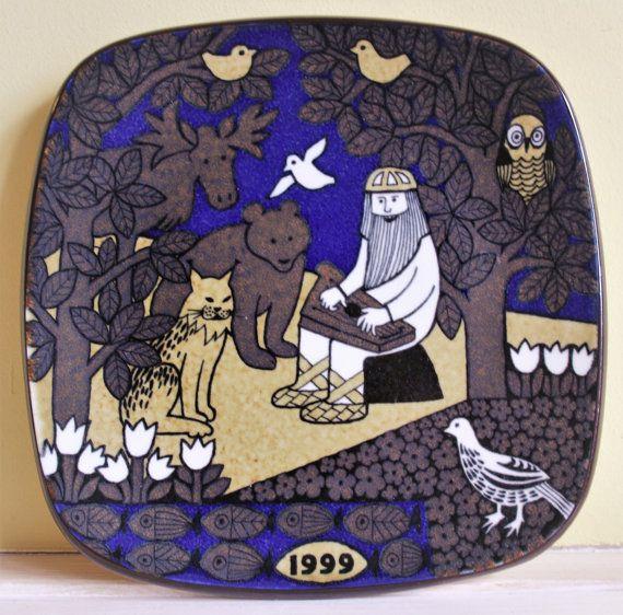 Arabia Finland Kalevala wall plate Finnish by MyVintagePorcelain & 9 best Kalevala images on Pinterest | Finland Plate design and Helsinki