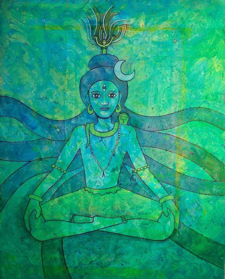 ujiayi:  Green Shiva