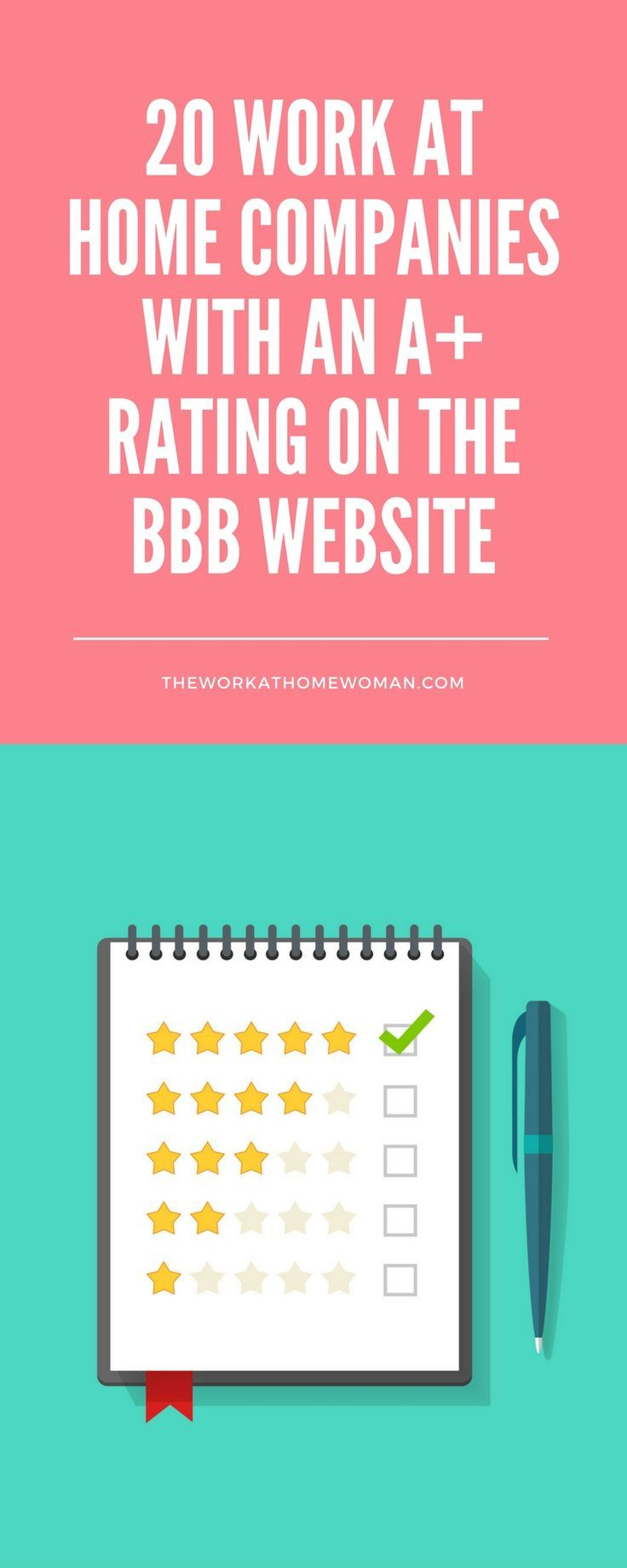 To help take some of this uncertainty out of your job search, I've put together a list of 20 work at home companies that have an A+ rating with the Better Business Bureau.
