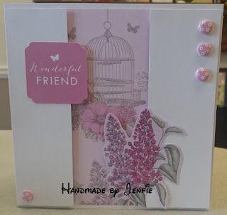 Handmade by Jenfie: Birds & Blooms - Craftwork Cards Workshop
