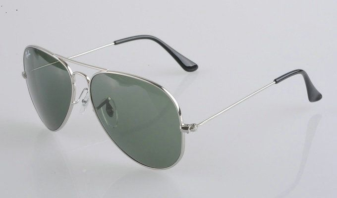36155a5520 Ray Ban Aviator 3025 Silver Frame Green Lens Ray Ban Glasses I have a pair  but a cheaper pair would be great for work  )