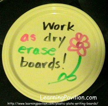 Plastic Plates: Cheap Dry Erase Boards