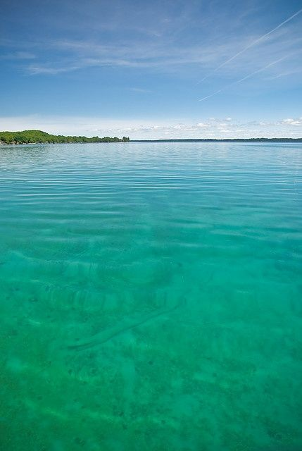 Impossibly clear, blue water. I miss summers on Torch Lake, MI
