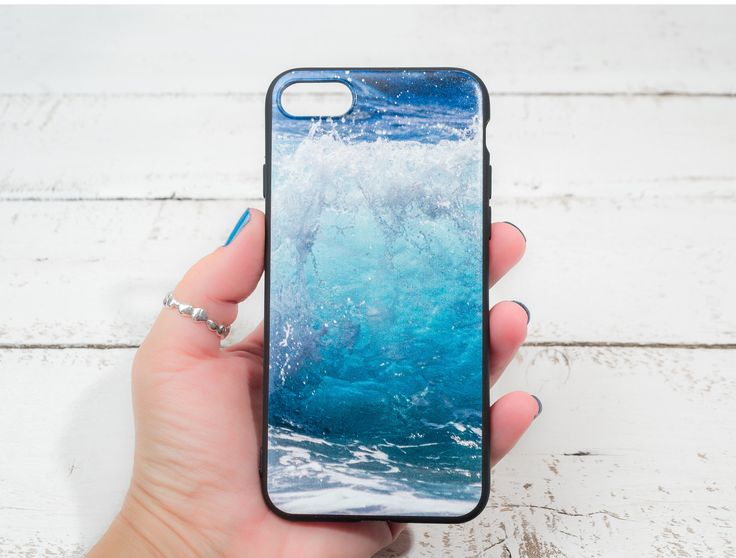 ON SALE Wave iPhone 7 case Soft silicone Photo Print Ocean iPhone 6 case Blue iPhone case Beach iPhone 7 case Gift for her Gift for him by LightBlueCases on Etsy