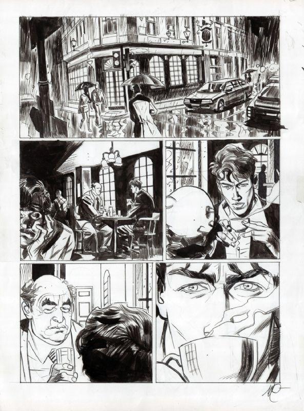 DYLAN DOG TAVOLA DEL COLOR FEST 1  FUORI TEMPO MASSIMO  PAG 46 MASSIMO CARNEVALE Comic Art
