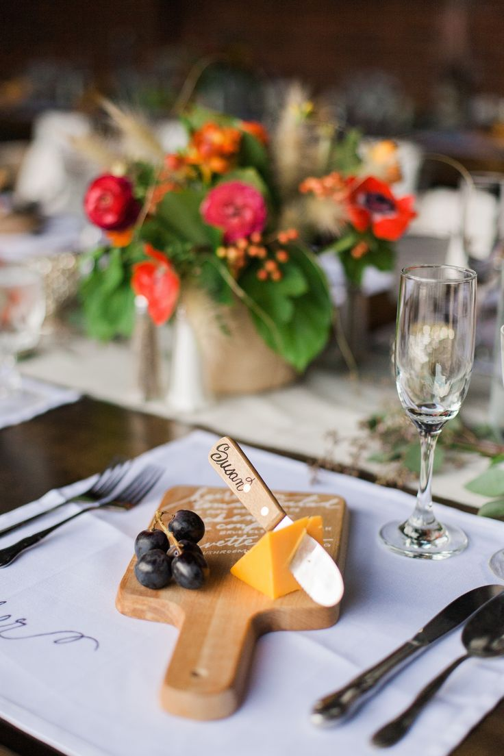 Individual cheese boards that can double as menus and name cards. Photography : Rachel Havel | Saved from SMP: http://www.stylemepretty.com/living/2014/11/21/farm-to-table-30th-birthday-party/