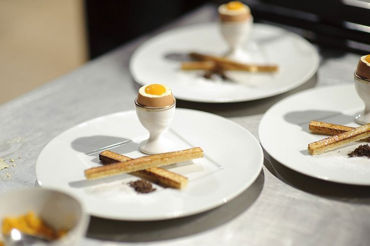 Boiled egg and soldiers by chef Martin Blunos