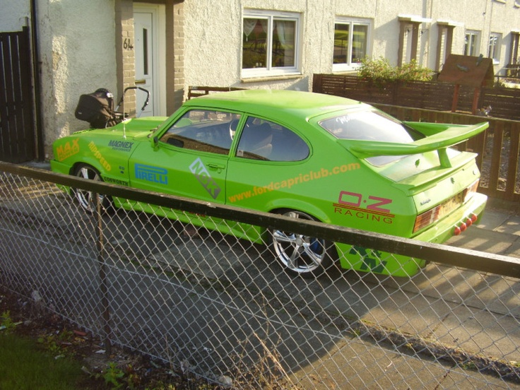 FORD CAPRI LASER GREEN - Not my style, but shows how far some people would take classic mods.