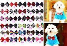 50 pc/lot Nouvelle Main Réglable Pet Chien Noeuds papillon Pour Animaux Chien Cravates pour Chien Accessoires Pour Animaux de Chien de Partie Noeuds Papillon 30 motif(China (Mainland))