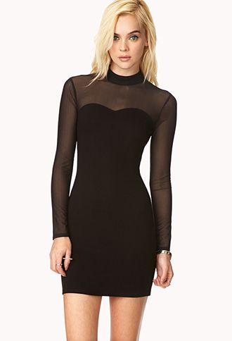 Posh High-Neck Dress | FOREVER21 - 2000127617 Good with black pumps and maybe a colored blazer.