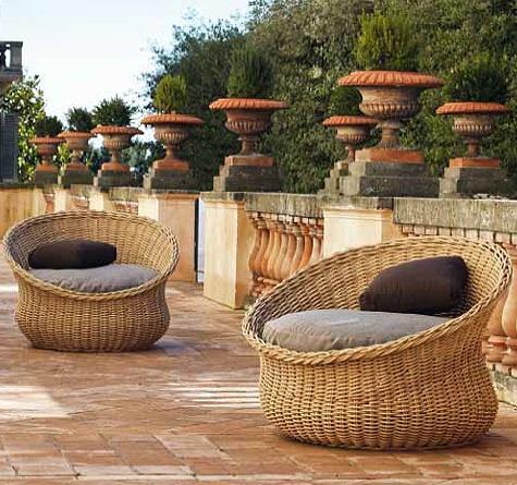 rattan gartenm bel unopi mamy im retro style auch als 2er sofa zu haben outdoor living. Black Bedroom Furniture Sets. Home Design Ideas