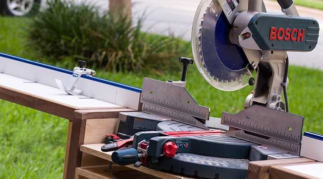 Folding, Rolling Chop-Saw Stand