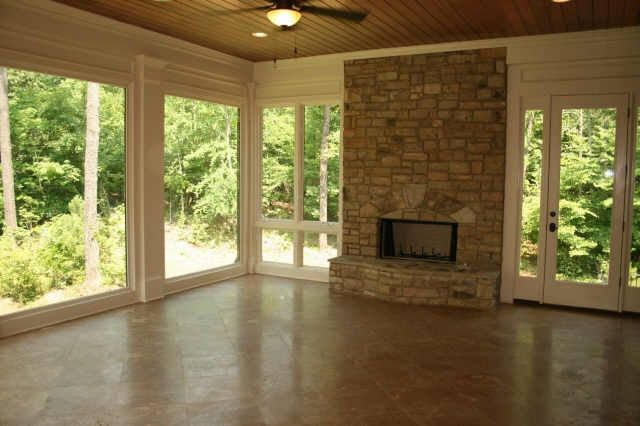 Sunroom With Fireplaces Sunroom With Fireplace Sunroom: two story sunroom