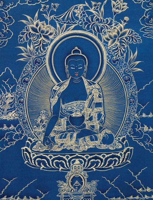 Medicine Buddha in blue