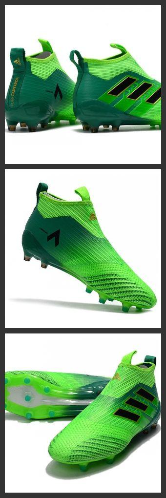 Scarpa da Calcio Uomo Adidas Calcio Adidas ACE 17+ Purecontrol FG Champagne Verde Solar Nero Verde sono caratterizzate da una tecnologia Boost nella suola per offrire un ottimo ritorno di energia.
