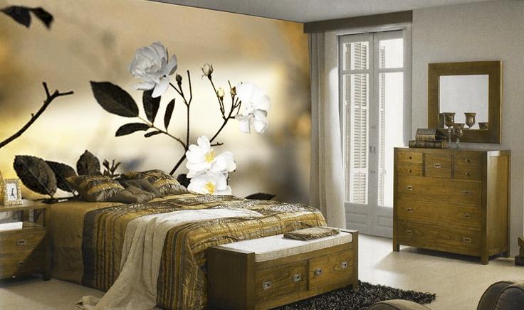 Murales fotogr ficos modelo almendro decoraci n beltr n for Adhesivos pared dormitorio