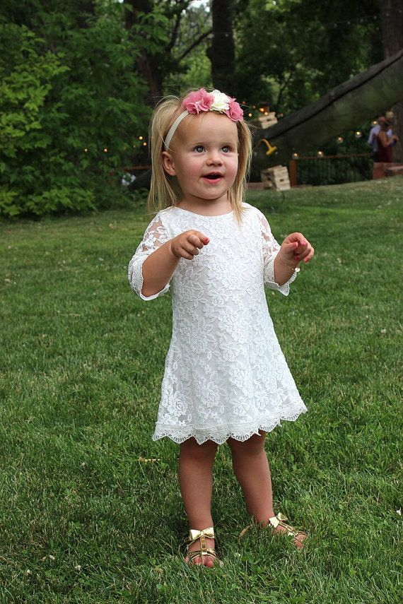 De gewoon Grace Lace bloemenmeisje jurk van KateGraceRose op Etsy
