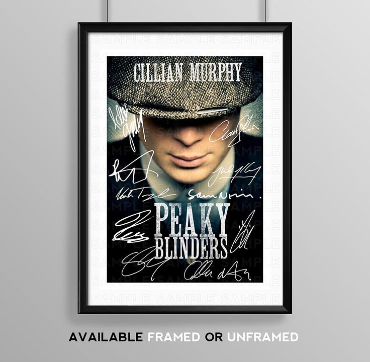 Peaky Blinders Cast Signed Autograph Signature Autographed A4 Poster Photo Print Photograph Artwork Wall Art Picture TV Show Series Season DVD Boxset Memorabilia Gift (BLACK FRAMED & MOUNTED)