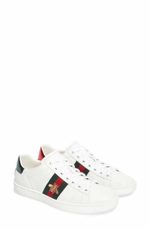 c2bd762f2 Gucci New Ace Sneaker (Women) Black Gucci Shoes, Leather Heels, Snakeskin  Heels