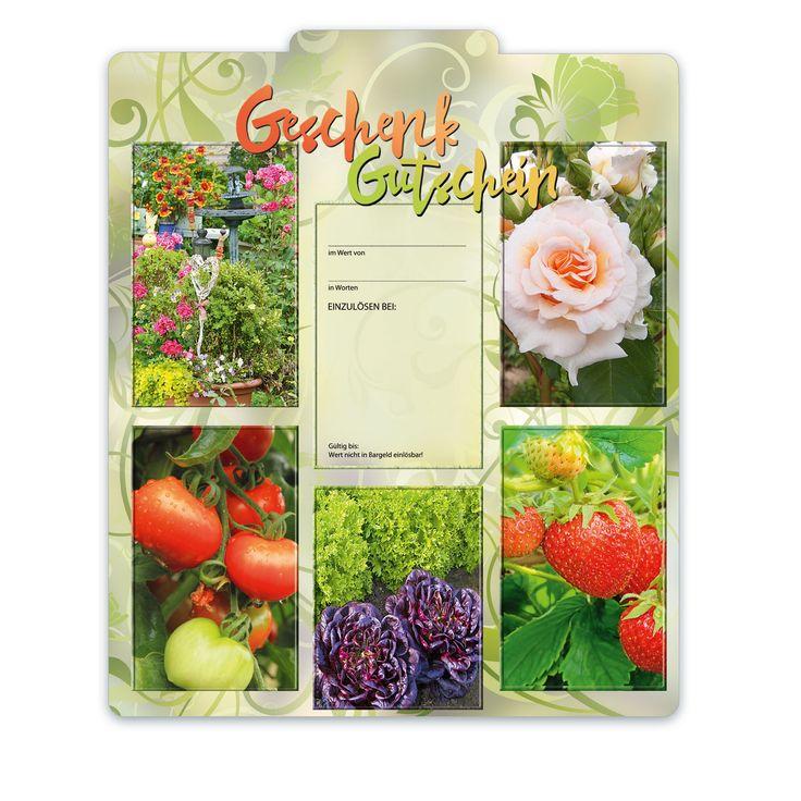 Bestell-Nr. BL250, Multicolor-Geschenkgutscheine für Gärtner, Floristen und Blumenhändler!