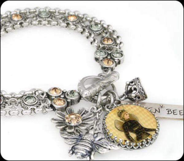 Queen bee bracelet bee jewelry bumble bee jewelry bumble bee