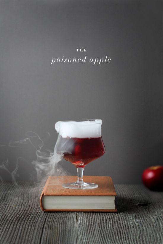The Poisoned Apple - Apple Cider, Pomegranate Juice, Tequila, Dry Ice.