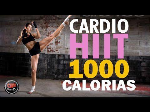 Cardio HIIT - QUEMA 1000 CALORIAS!!! - YouTube