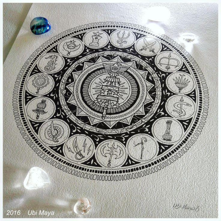 """Arte encomendada para tattoo, destino: Jaboticabal-SP. """"MANDALA 16 ORIXÁS"""", inspirada na mandala 13 orixás. Encomendas/orçamentos através do e-mail: notovic@gmail.com"""