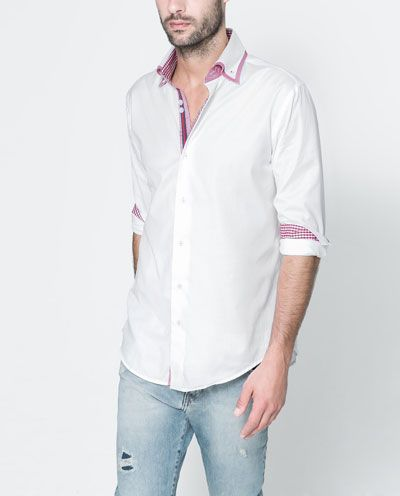 Image 2 of MOCK LAYER STRUCTURED SHIRT from Zara