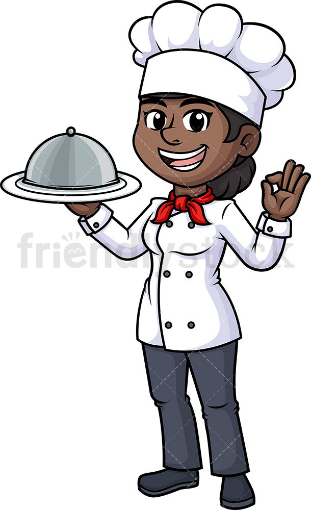 45+ Black Woman Chef Clipart