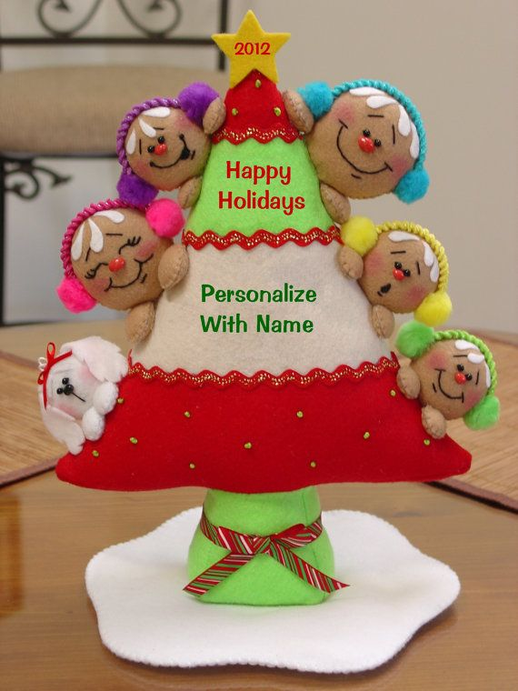 Gingerbread Family Tree by simplysweetgifts on Etsy, $35.00