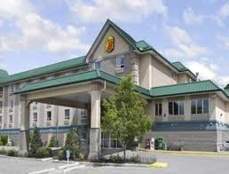 Super 8 Motel Shawnessy http://petscanstay.com/pet-friendly/hotel/super-8-motel-calgary-shawnessy-area...five minutes from Spruce Meadows....