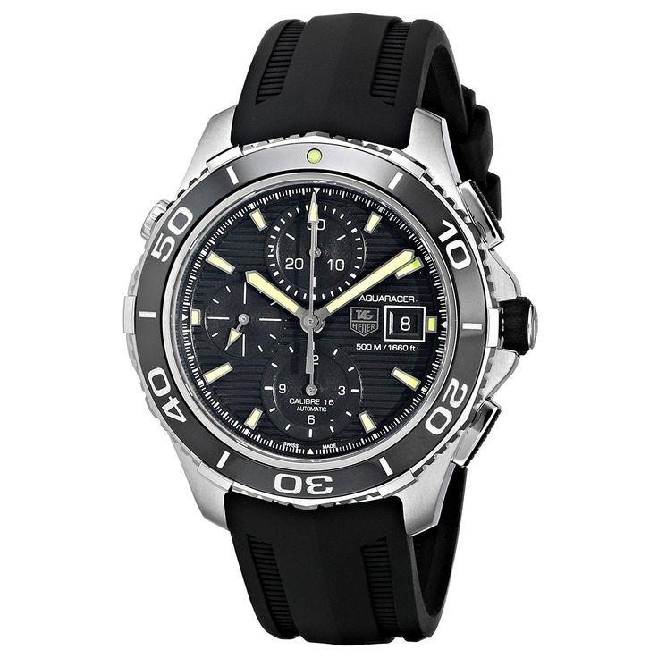Tag Heuer Men's CAK2111.FT8019 Aquaracer Chronograph Automatic Black Rubber Watch