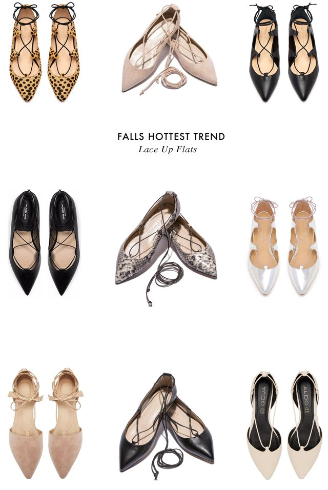 Falls hottest trend- lace up flats