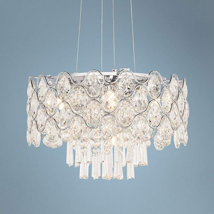 38 best modern crystal chandeliers images on pinterest modern angotti 9 light 19 round crystal chandelier mozeypictures Gallery