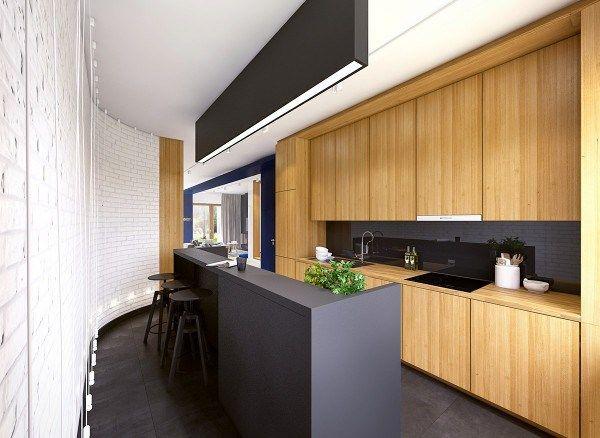 deco cuisine noir blanc bois - Cuisine Noir Et Blanc Et Bois