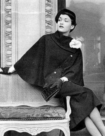 Maxime de la Falaise in Marcel Rochas Cape, photographed by Philippe Pottier…