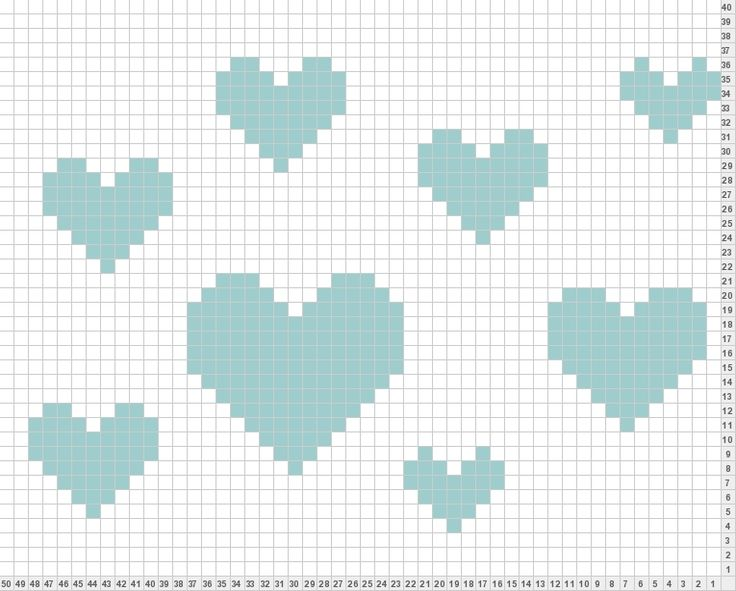 New Chart - Crochet / knit / stitch charts and graphs