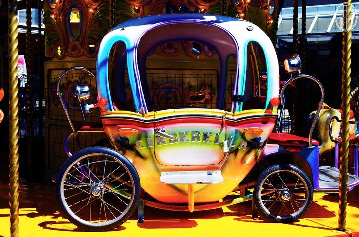 A carriage on a carrousel. Loving the color! - Tilburgse Kermis 2014