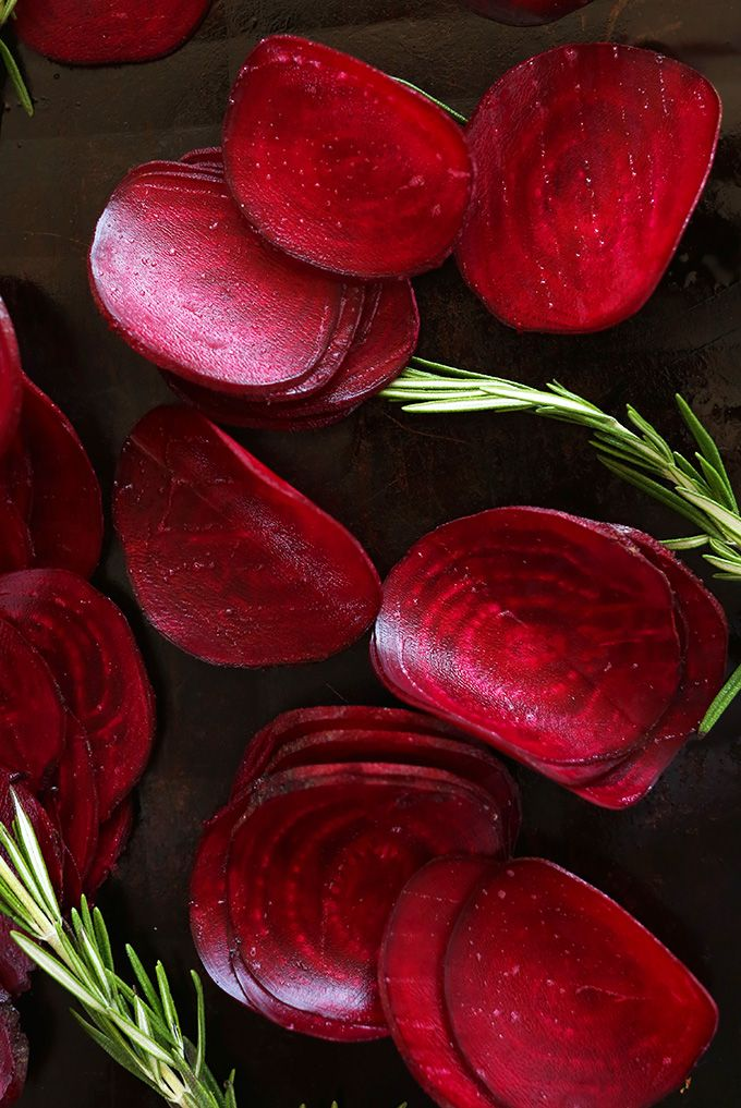 Baked Rosemary Beet Chips | Minimalist Baker Recipes
