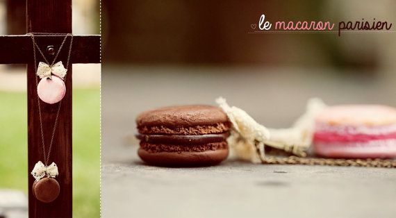 Macaron Pendant / Food Miniature Jewelry / Dollhouse by Ilianne, £13.00