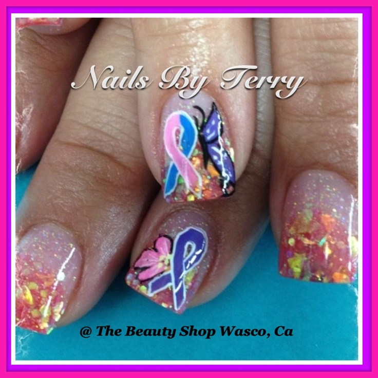 21 best Relay for Life/support cancer ribbon nails by Terry images ...