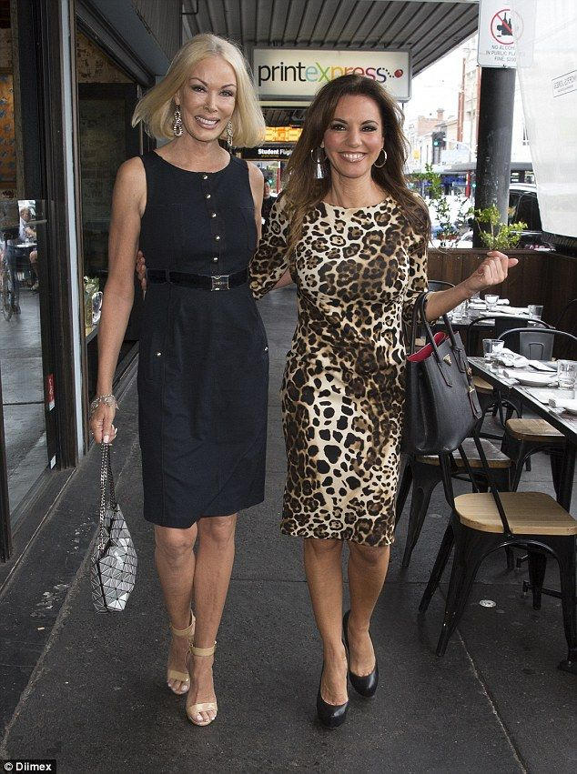 Too hot to trot! Real Housewives Of Melbourne star Janet Roach showed off her demure side while Susie McLean squeezed into tight leopard print dress at the Moet & Chandon Champagne Lunch, in Melbourne, on Wednesday