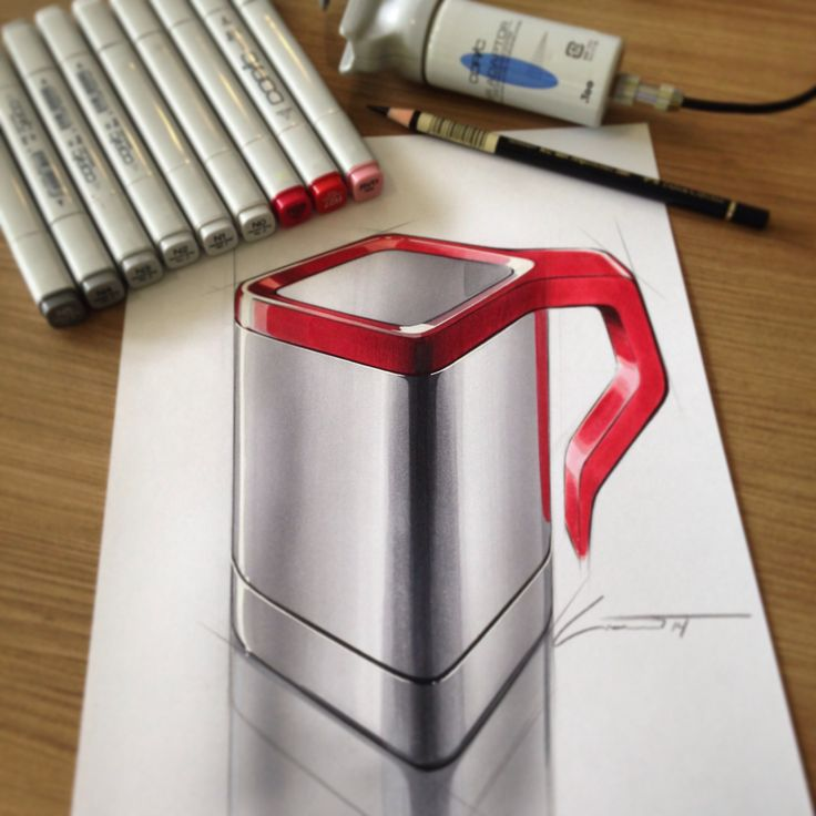 I think that simple forms are the best way to experiment with copics. Practice will help to understand how light reflect off an object and how this should be represented when rendering