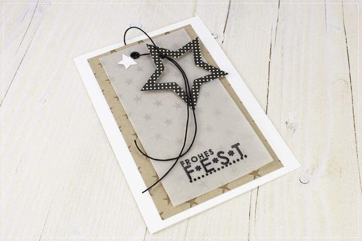 card christmas star clean elegant simple - Karte Weihnachtskarten inspiration Stern - kort jul julekort sjerne enkelt elegant design