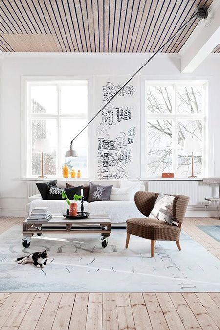 Unexpected Ceiling Light | via Cococozy blog | House & Home