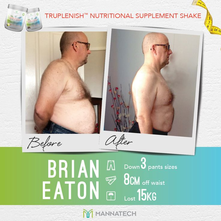 """Thank you for giving me the opportunity to change my life with the fat loss program."" ~ Brian Eaton  Tame your cravings and transform your body composition with the TruPLENISH Nutritional Supplement Shake just as Brian has. A healthy lifestyle has never tasted better!  #truhealth #truplenish #weightmanagement #mannatechaustralasia"