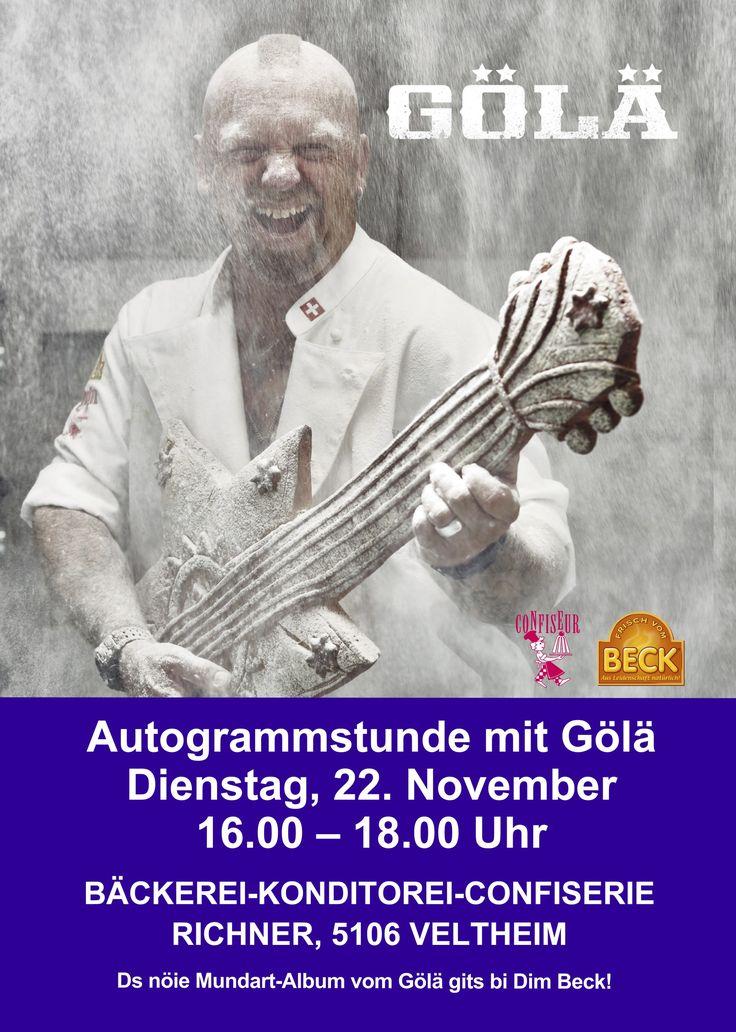 Autogrammstunde mit Gölä am 22. November bei der Bäckerei Richner!⭐️⭐️⭐️⭐️⭐️⭐️⭐️ #gölä #stärne  #autogramm #autogrammstunde