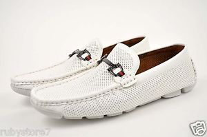 White Loafers Men's Shoes | Mens-White-Casual-Shoes-Driving-Moccasins-Loafers-Slip-On-Soft-Medium ...